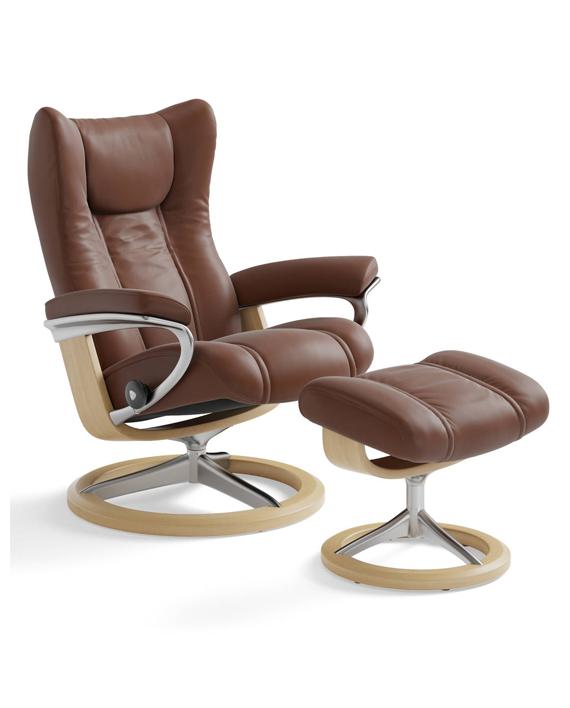Stressless® View (M) Signature stol med krakk | Lenestoler