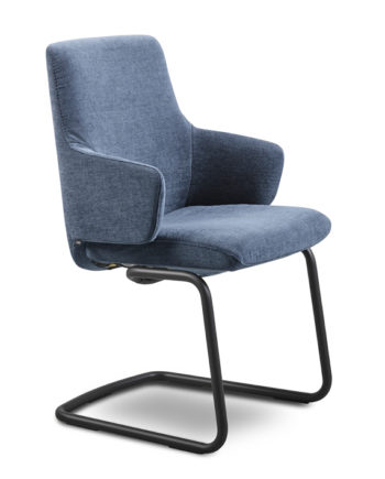 Stressless Chilli D400 (L) Lav Med Arm Blue Sort Fot Vinkel